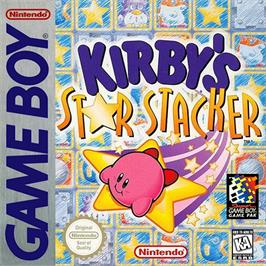 Box cover for Kirby's Star Stacker on the Nintendo Game Boy.