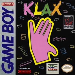 Box cover for Klax on the Nintendo Game Boy.