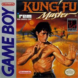 Box cover for Kung-Fu Master on the Nintendo Game Boy.