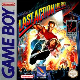 Box cover for Last Action Hero on the Nintendo Game Boy.