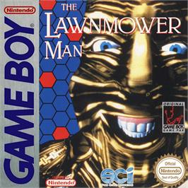 Box cover for Lawnmower Man on the Nintendo Game Boy.