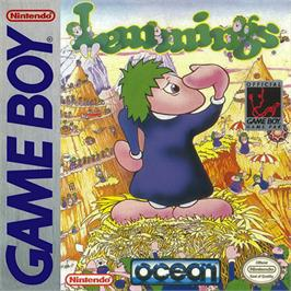 Box cover for Lemmings on the Nintendo Game Boy.