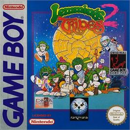 Box cover for Lemmings 2: The Tribes on the Nintendo Game Boy.