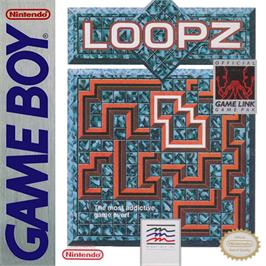 Box cover for Loopz on the Nintendo Game Boy.