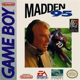 Box cover for Madden NFL '95 on the Nintendo Game Boy.
