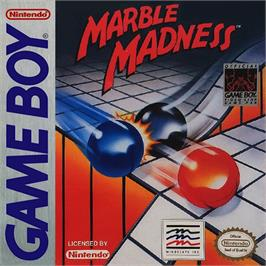 Box cover for Marble Madness on the Nintendo Game Boy.