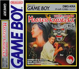 Box cover for Master Karateka on the Nintendo Game Boy.