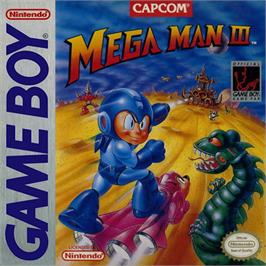 Box cover for Mega Man III on the Nintendo Game Boy.