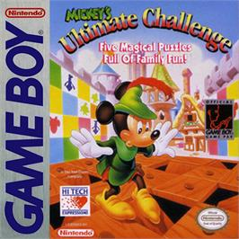 Box cover for Mickey's Ultimate Challenge on the Nintendo Game Boy.