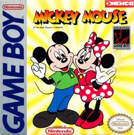 Box cover for Mickey Mouse on the Nintendo Game Boy.