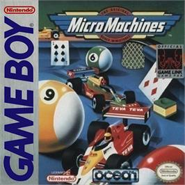 Box cover for Micro Machines on the Nintendo Game Boy.