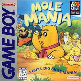 Box cover for Mole Mania on the Nintendo Game Boy.
