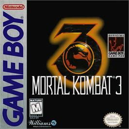 Box cover for Mortal Kombat 3 on the Nintendo Game Boy.
