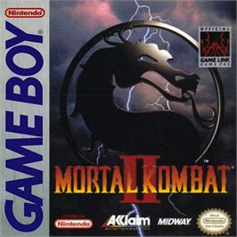 Box cover for Mortal Kombat II on the Nintendo Game Boy.