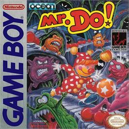 Box cover for Mr. Do! on the Nintendo Game Boy.