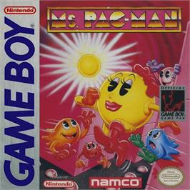 Box cover for Ms. Pac-Man on the Nintendo Game Boy.