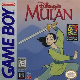 Box cover for Mulan on the Nintendo Game Boy.