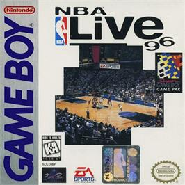 Box cover for NBA Live '96 on the Nintendo Game Boy.