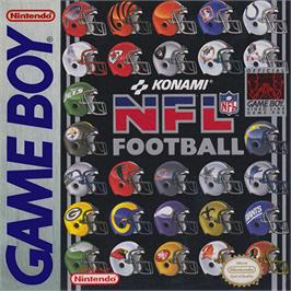 Box cover for NFL Football on the Nintendo Game Boy.
