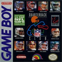 Box cover for NFL Quarterback Club on the Nintendo Game Boy.