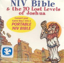Box cover for NIV Bible & the 20 Lost Levels of Joshua on the Nintendo Game Boy.