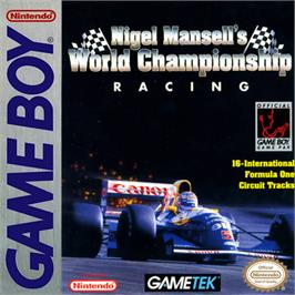 Box cover for Nigel Mansell's World Championship on the Nintendo Game Boy.