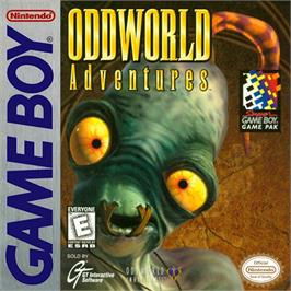 Box cover for Oddworld Adventures on the Nintendo Game Boy.