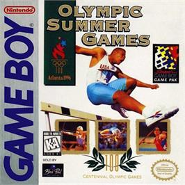 Box cover for Olympic Summer Games on the Nintendo Game Boy.