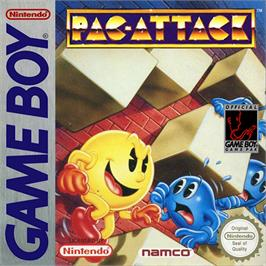 Box cover for Pac-Attack on the Nintendo Game Boy.