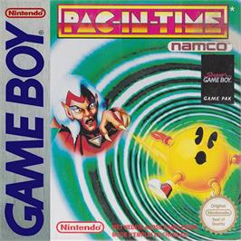 Box cover for Pac-in-Time on the Nintendo Game Boy.