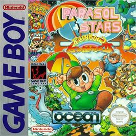 Box cover for Parasol Stars: The Story of Bubble Bobble III on the Nintendo Game Boy.