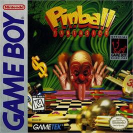 Box cover for Pinball Fantasies on the Nintendo Game Boy.