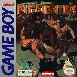 Box cover for Pit Fighter on the Nintendo Game Boy.