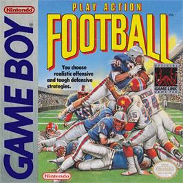 Box cover for Play Action Football on the Nintendo Game Boy.