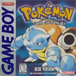 Box cover for Pokemon - Blue Version on the Nintendo Game Boy.