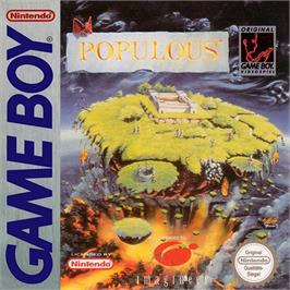 Box cover for Populous on the Nintendo Game Boy.