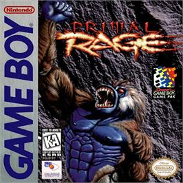 Box cover for Primal Rage on the Nintendo Game Boy.