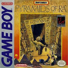 Box cover for Pyramids of Ra on the Nintendo Game Boy.