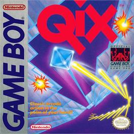 Box cover for Qix on the Nintendo Game Boy.