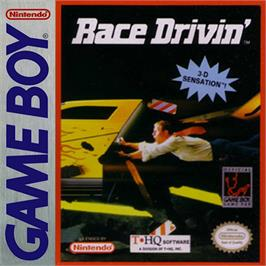 Box cover for Race Drivin' on the Nintendo Game Boy.