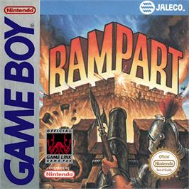 Box cover for Rampart on the Nintendo Game Boy.