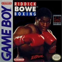 Box cover for Riddick Bowe Boxing on the Nintendo Game Boy.