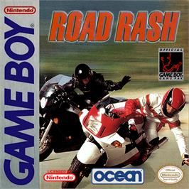 Box cover for Road Rash on the Nintendo Game Boy.