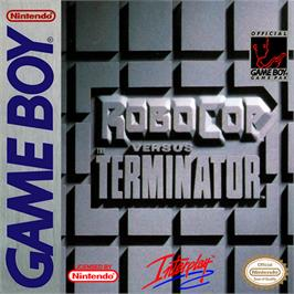 Box cover for Robocop vs. the Terminator on the Nintendo Game Boy.