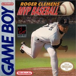 Box cover for Roger Clemens MVP Baseball on the Nintendo Game Boy.