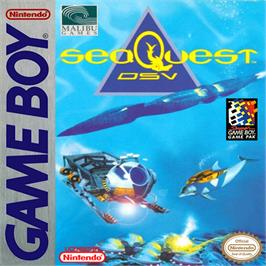 Box cover for SeaQuest DSV on the Nintendo Game Boy.