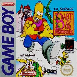 Box cover for Simpsons: Bart & the Beanstalk on the Nintendo Game Boy.