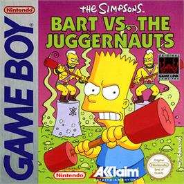 Box cover for Simpsons: Bart vs. the Juggernauts on the Nintendo Game Boy.