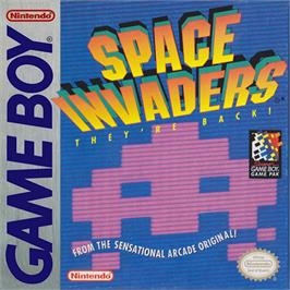 Box cover for Space Invaders on the Nintendo Game Boy.
