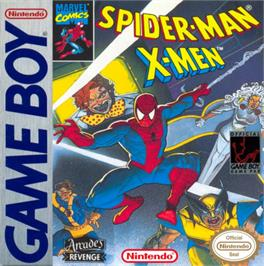 Box cover for Spider-Man and the X-Men: Arcade's Revenge on the Nintendo Game Boy.